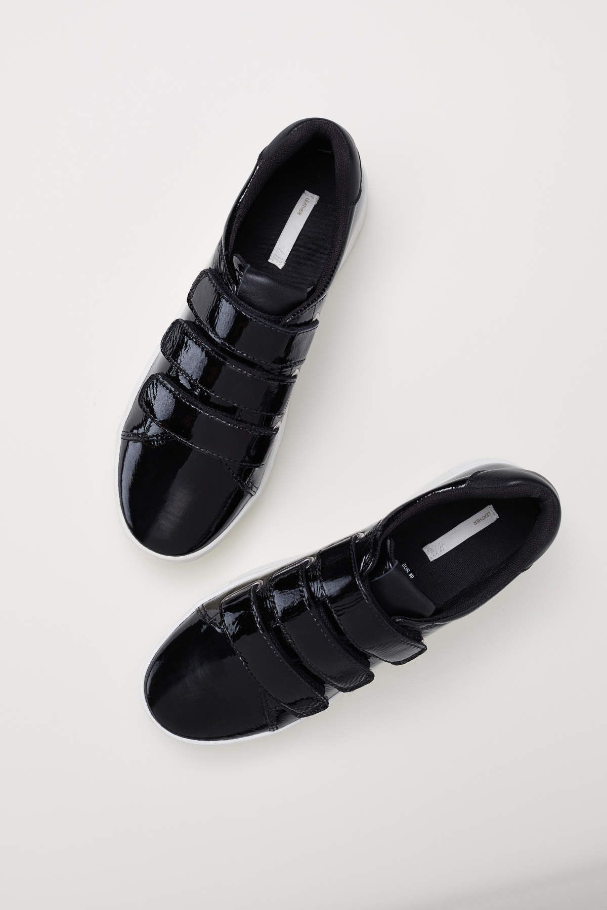Patent Leather Sneakers Black Women H M Us Sneakers Black Sneakers Leather Sneakers