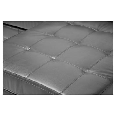 Astonishing Dobson Leather Modern Sectional Sofa Black Baxton Studio Beatyapartments Chair Design Images Beatyapartmentscom