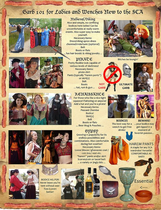 Helpful And Funny Guides For Renfaire/SCA Attire