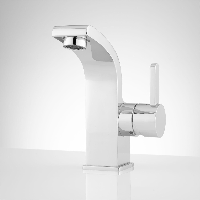 Massie Single Hole Bathroom Faucet With Pop Up Drain No Overflow Chrome Bathroom Faucets Single Hole Bathroom Faucet Modern Bathroom Faucets