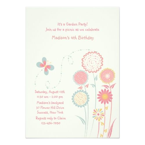 Spring day invitation garden birthday party invitations party invitations stopboris Gallery