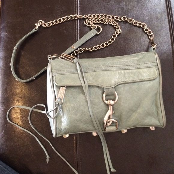 Rebecca Minkoff Mini Mac crossbody. Light blue Light blue, soft leather with silver hardware Rebecca Minkoff Bags Crossbody Bags