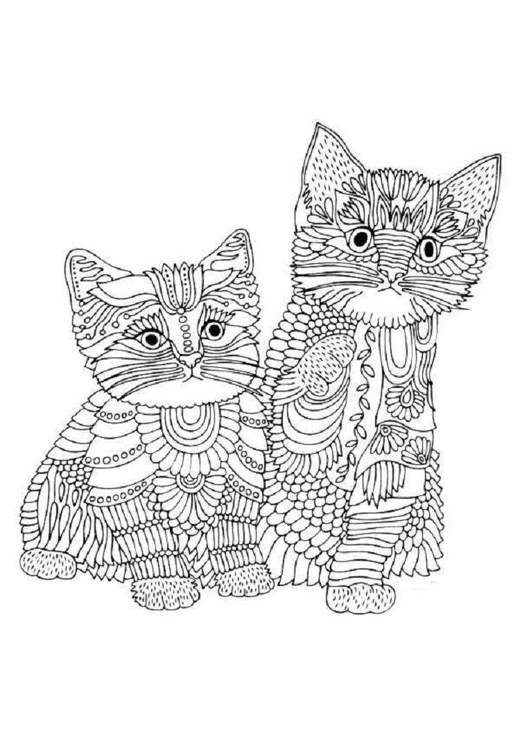 wonderful kittens coloring pages  ausmalbilder mandala