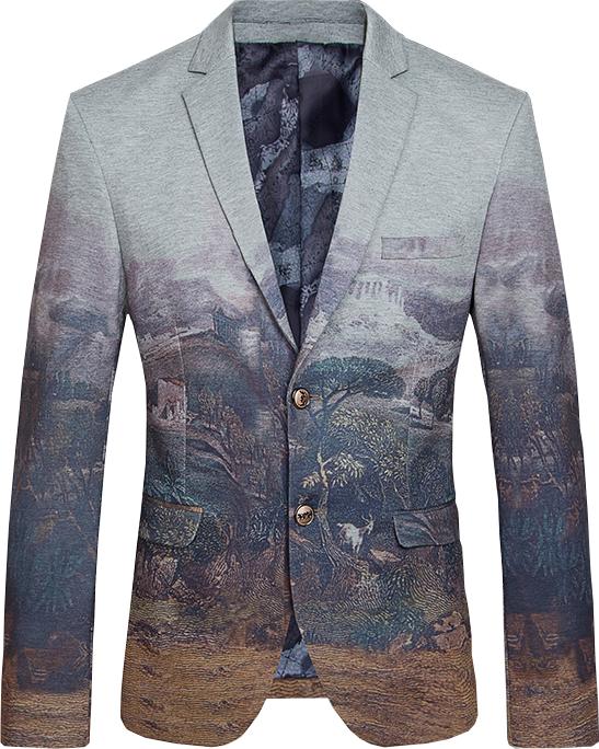 e06d530d91a Brilliant Nature Art Fancy Grey Cotton Blazer