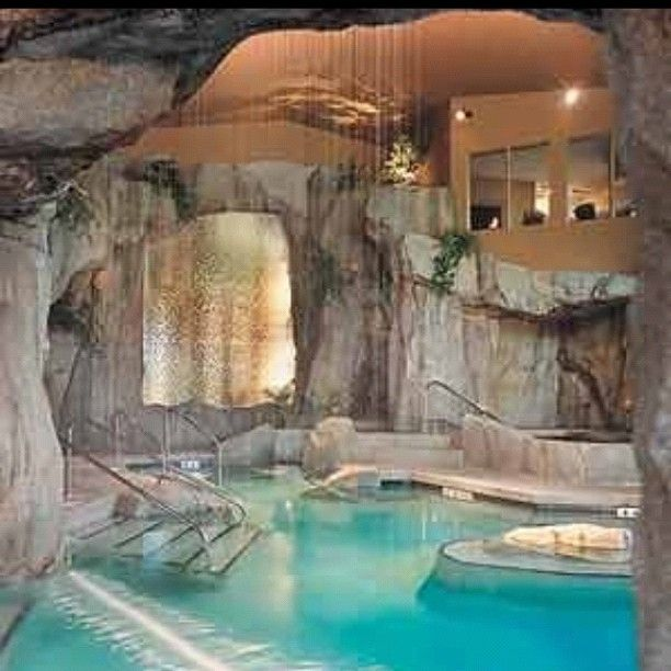Indoor pool grotte  I would love this, it reminds me of the Moonpool in warrior cat ...