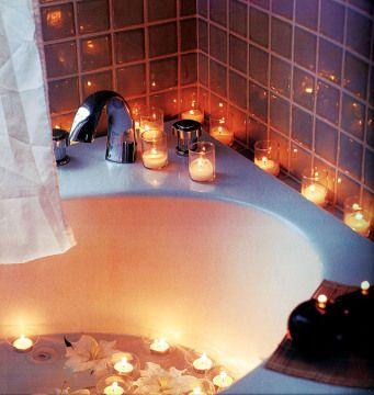 The Friday Ritual Washing Away Negative Thoughts Bath Candles Romantic Romantic Candles Bath Candles