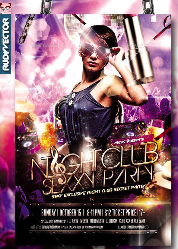 20 Free Premium Best Club Flyer Psd Design Templates Party
