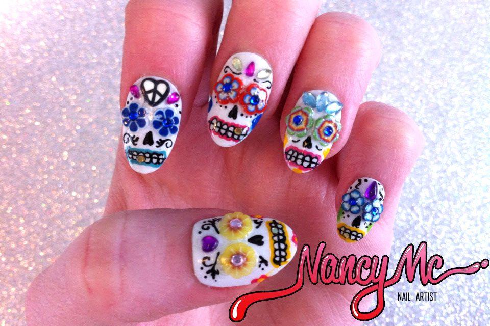 Mexican skull nails