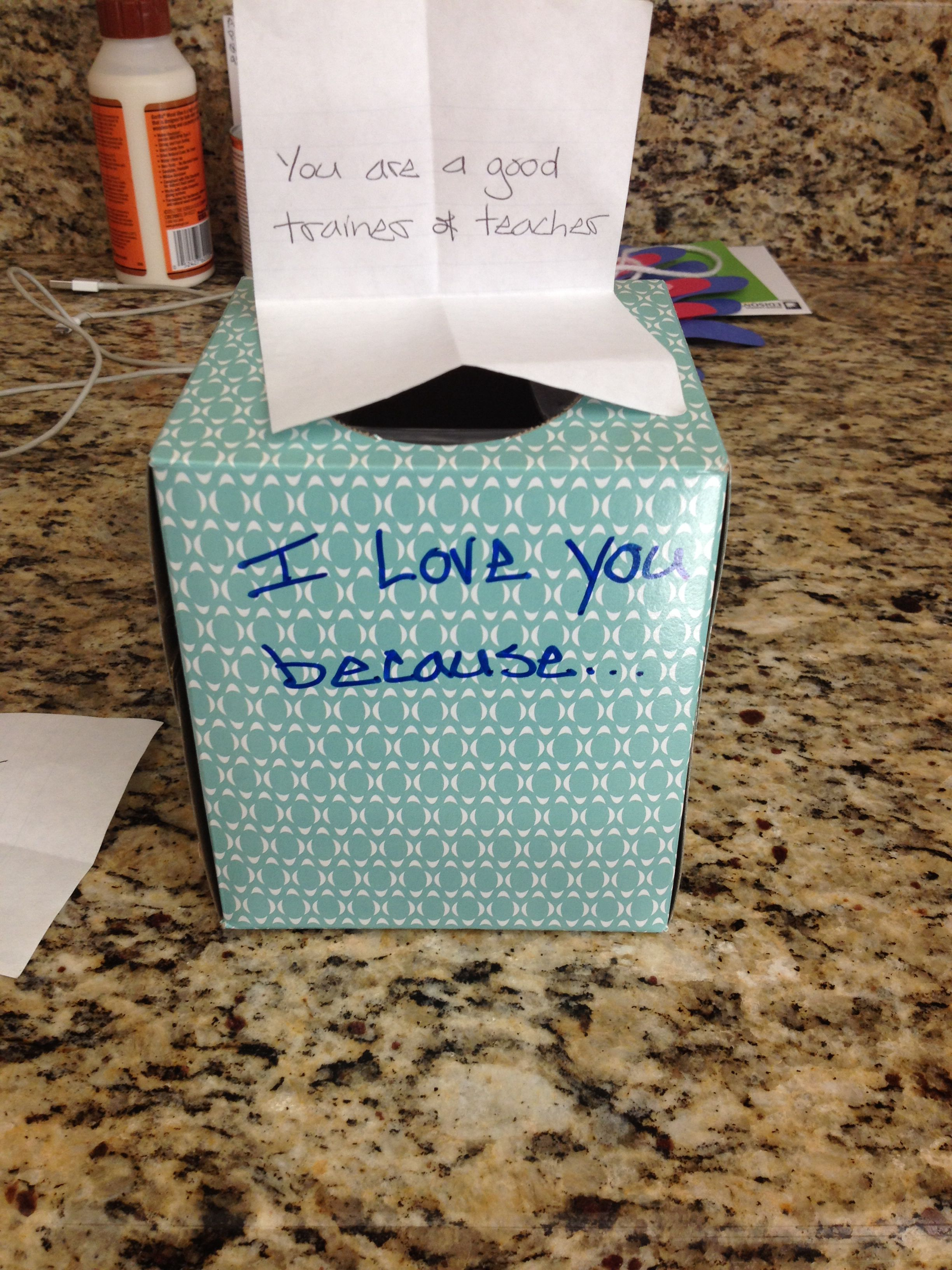 The Traditional 1 Year Wedding Anniversary Gift Is Paper Here A Tissue Box Filled