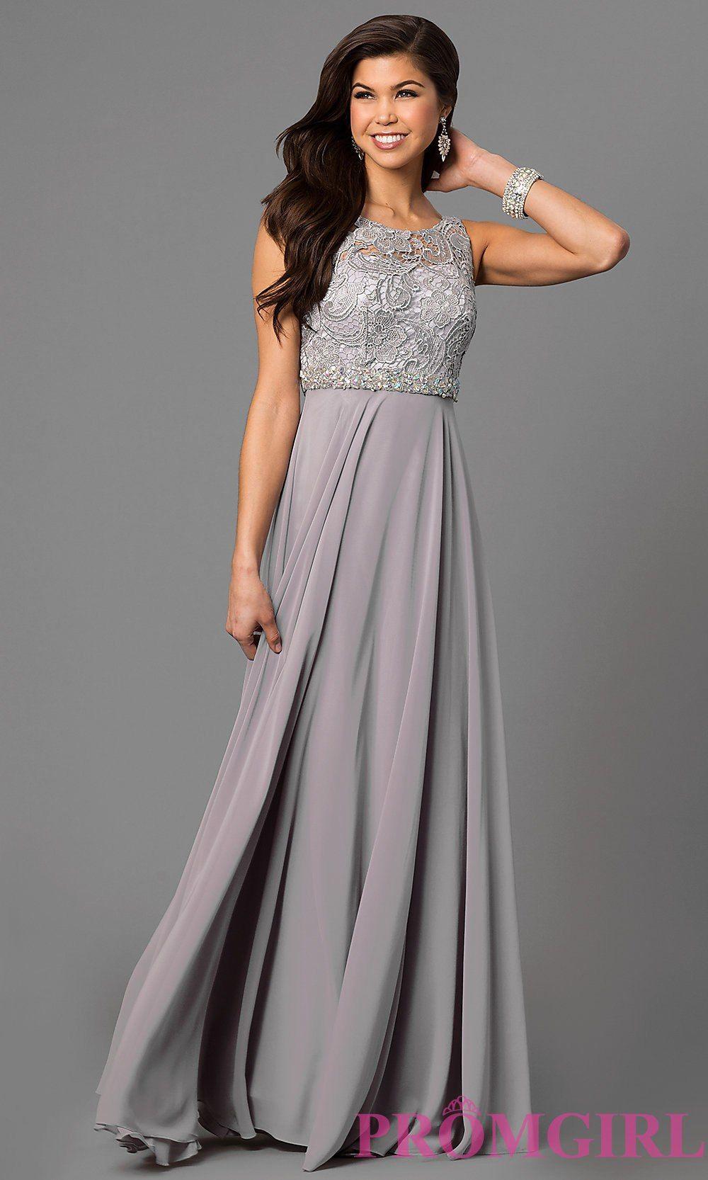 Long lacedbodice chiffon prom dresspromgirl katieus special day