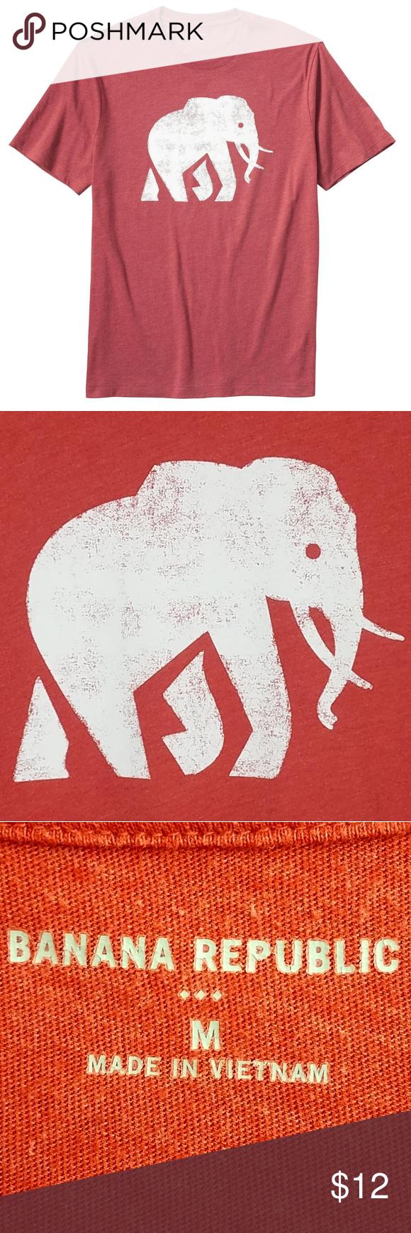 BANANA REPUBLIC Elephant Logo Graphic TShirt M in 2020