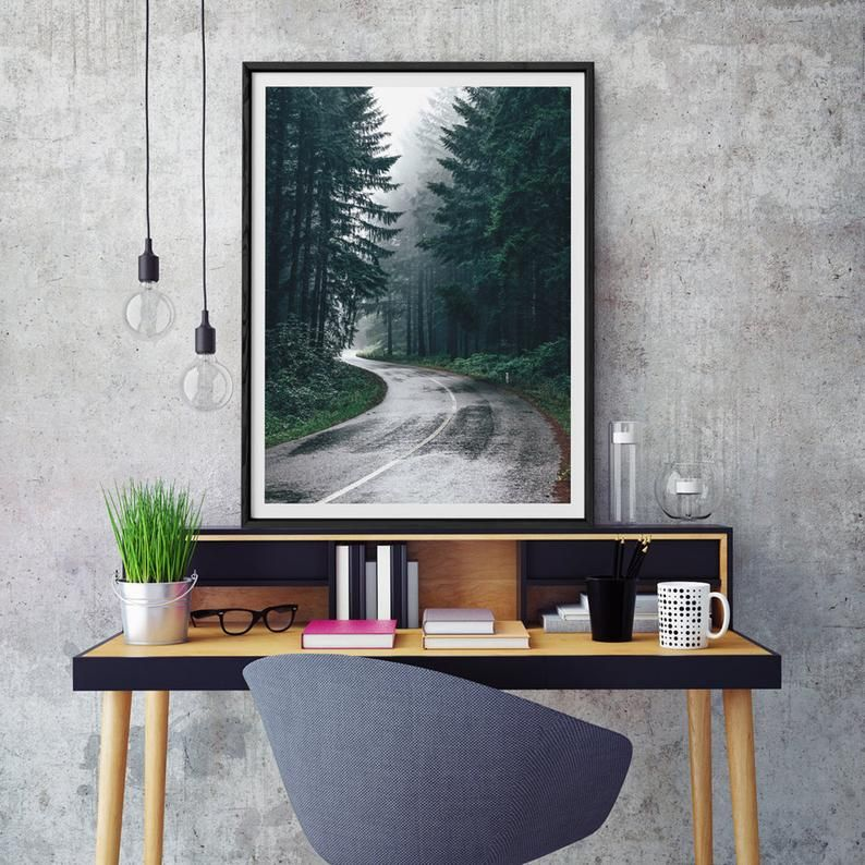 Forest Print Nature Photography Trees Wall Art Road Photo Etsy In 2020 Tree Wall Art Nature Wall Art Wall Art Decor Prints