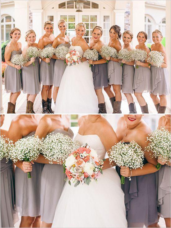Romantic Rustic Wedding Wedding Bridesmaids Bridesmaid Bouquet