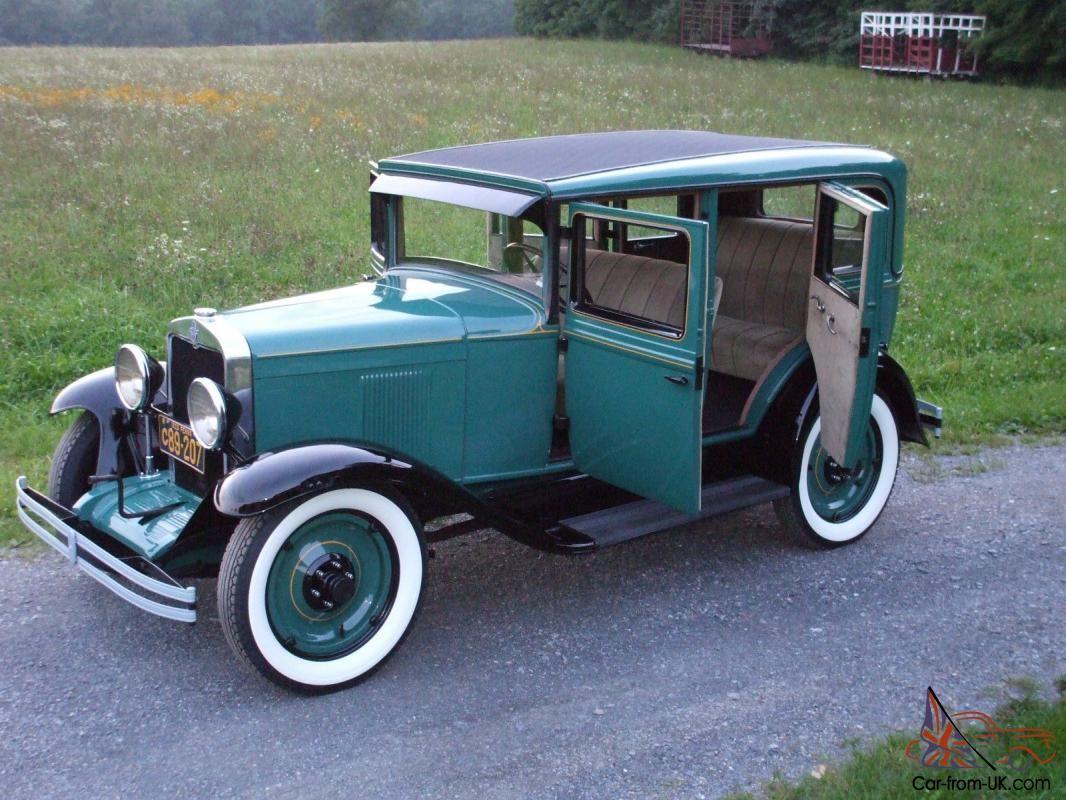 1929 Chevrolet Frame Off Restoration Six Cyl Chevrolet Sedan Chevrolet Restoration