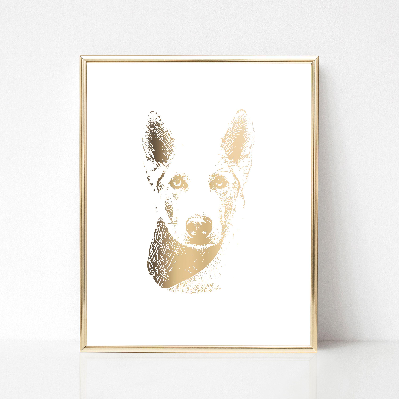 9314de0f67f4 Custom print of your pet! Unframed, personalized pet print , Digital  drawing of your pet, pet portrait, Modern animal art, Doglover gift