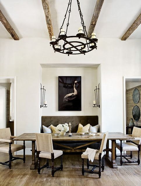 Modern Spanish Style. Dining I Love This Idea Except The Goose · Atlanta  HomesBenchesFor ...