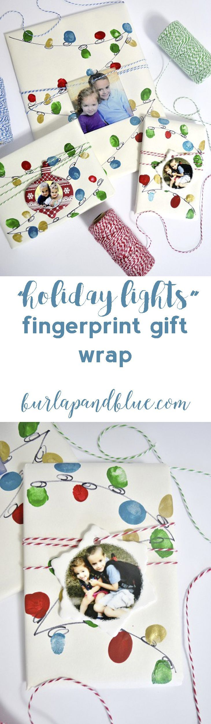 personalized gift ideas + holiday lights gift wrap tutorial with ...