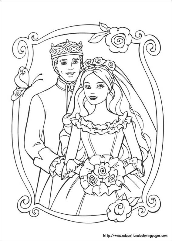 Pin By Katrina Morgan On Inkleur Wedding Coloring Pages Barbie Coloring Barbie Coloring Pages