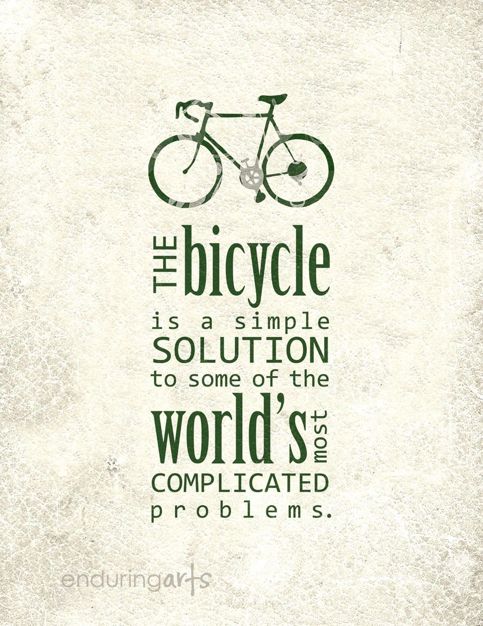 Bicycle Is A Simple Solution Art Print In Pavement Grey 15 00
