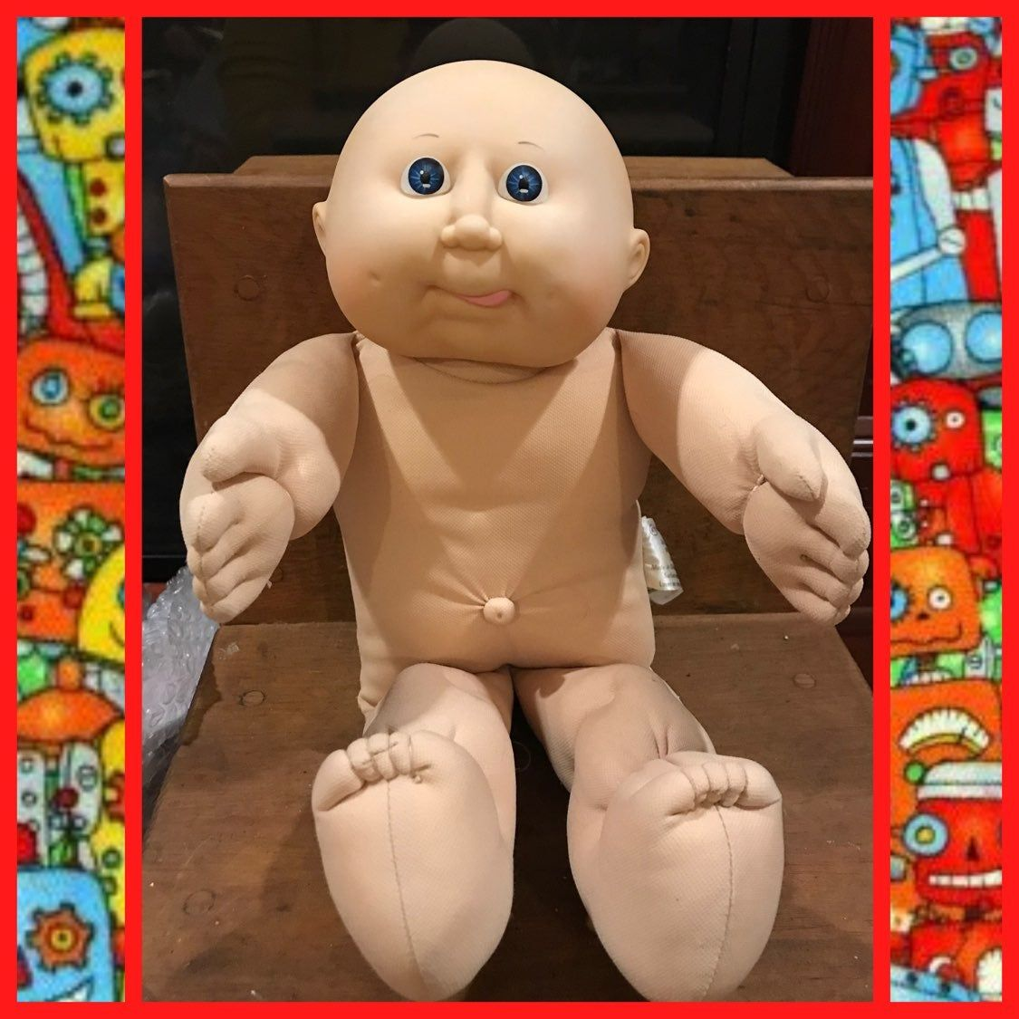 Bald Cabbage Patch Kid Headmold 11 Blue Eyes No Clothes Or Shoes Perfect Condition 16 Tall Free Sh Patch Kids Cabbage Patch Kids Dolls Cabbage Patch Kids