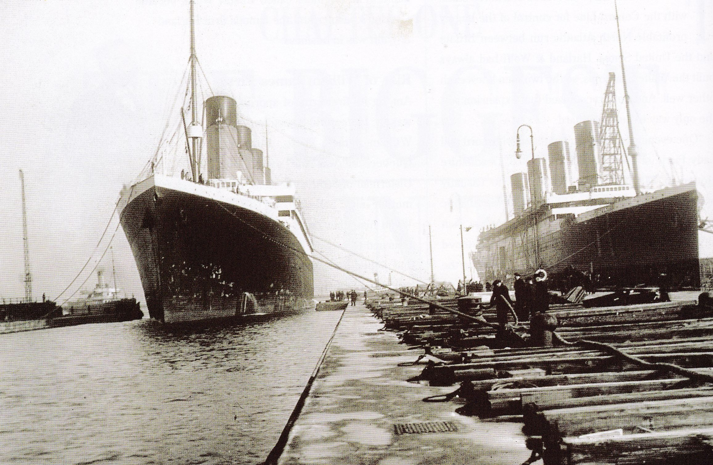 Sisters: The 'Olympic' and the 'Titanic' emerged from the Harland & Wolff yard within months of each other.