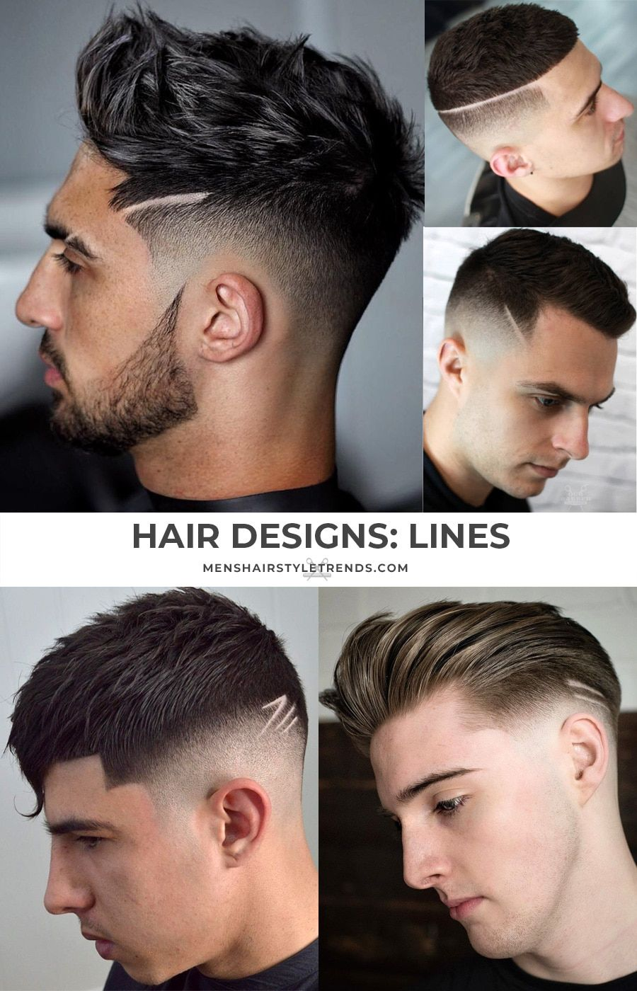 4+ Cool Haircut Designs With Lines For Guys (4 Styles