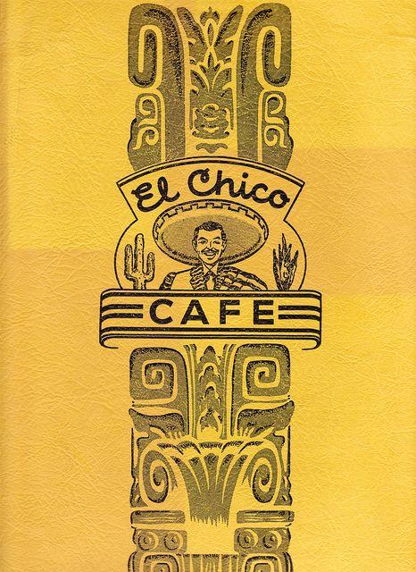 1953 El Chico Cafe Menu Oak Lawn Dallas Cafe Menu Oak Lawn Dallas