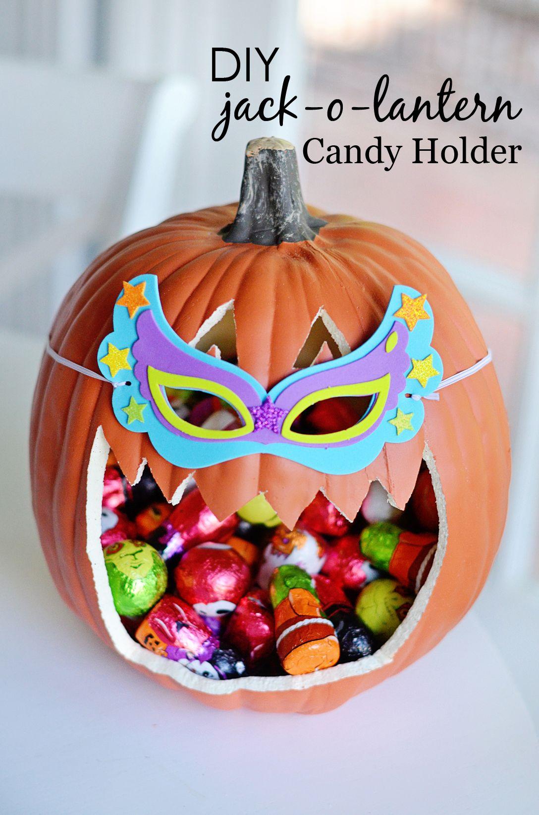 Diy Jack O Lantern Candy Holder Project Nursery Jack O Lantern Halloween Pumpkins Carvings Candy Holder