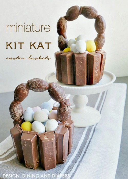 Mini kit kat easter baskets easter crafts easter baskets and easter diy mini kit kat easter baskets super cute edible easter crafts that can be used negle Choice Image