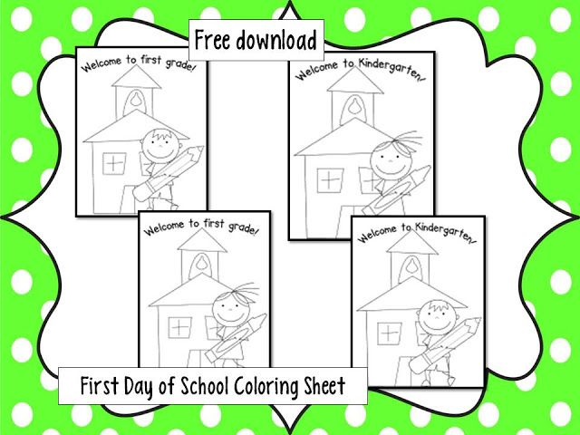 FREE! First day of school coloring sheet. | organization | Pinterest ...