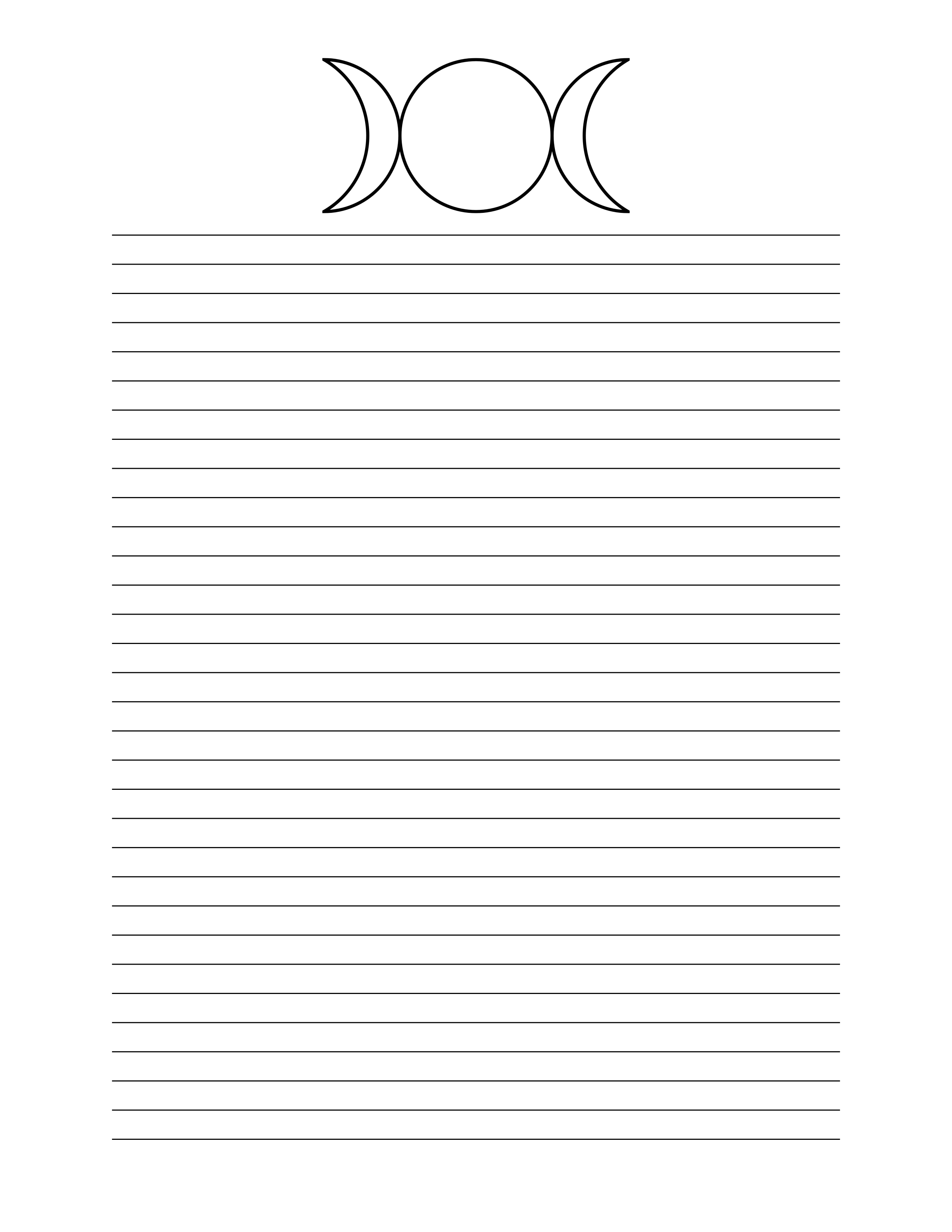 printable stationary page book of shadows free download bos blank
