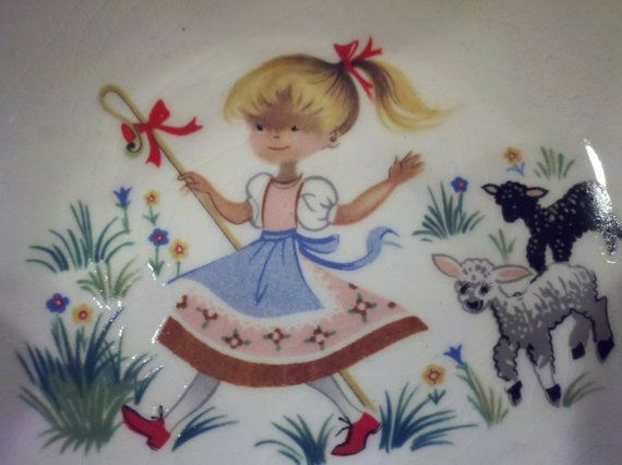 Arklow Ironstone Little Bo Peep bowl and plate by pieceswithpasts, $18.00