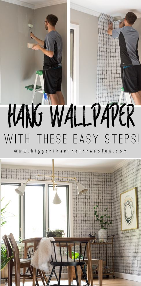 How To Wallpaper For Beginners Wallpaper Over Wallpaper Diy Wallpaper Diy Home Decor Projects