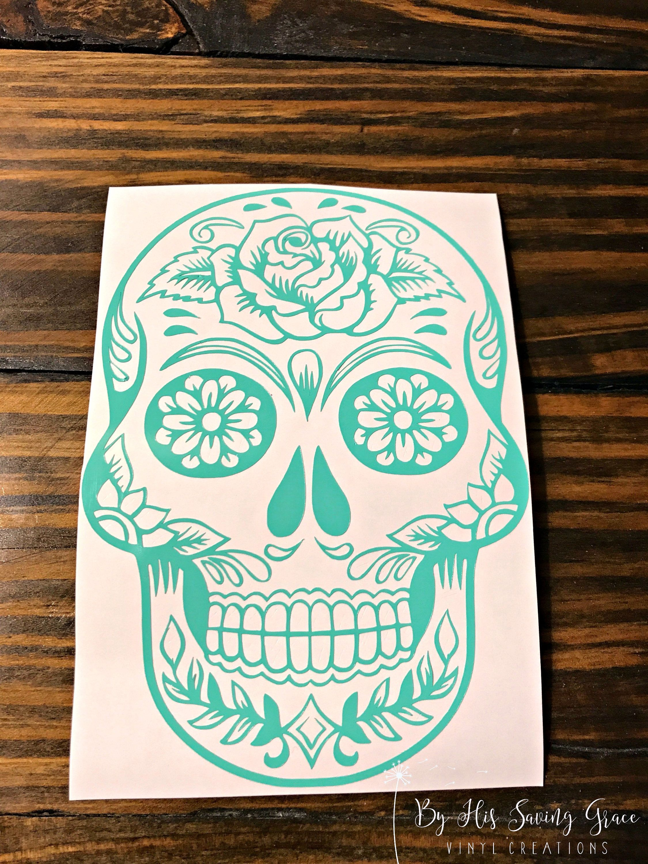 Sugar Skull Cup Decal Decal For Car Ice Chest Decal Etsy Yeti Decals Cup Decal Vinyl Decals [ 3000 x 2250 Pixel ]