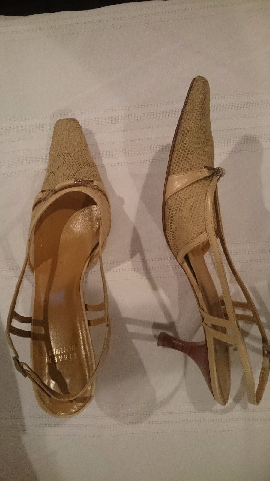 Stuart Weitzman Damens's Schuhes – Hampton Beige Deco Mesh ... Größe 11 ... Mesh d097b1