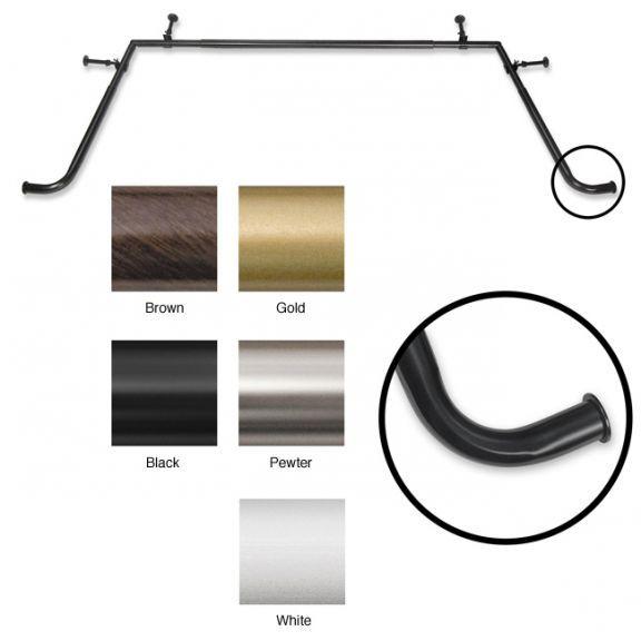 Blockaide Bay Window Adjustable Curtain Rod Set Bay Window Rod