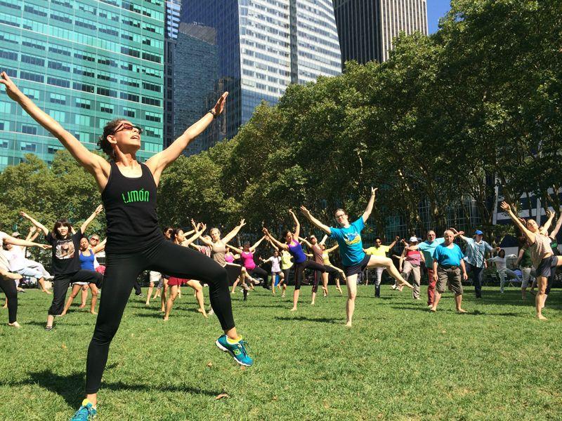 Movement, fitness, tai chi, etc. classes in Bryant Park