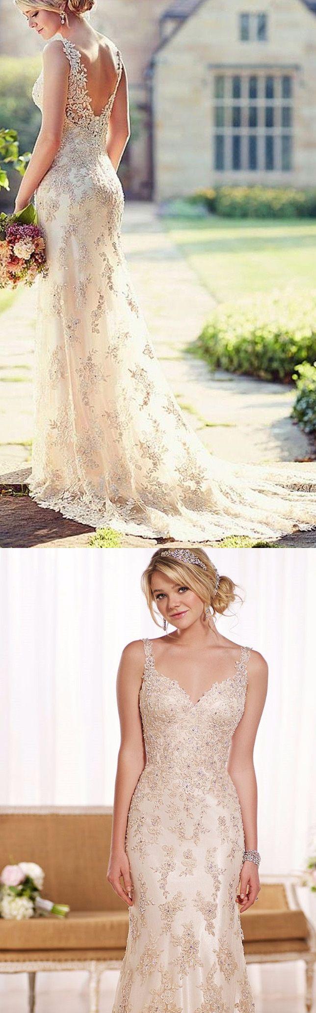 Discount sheathcolumn wedding dresses long white dresses with