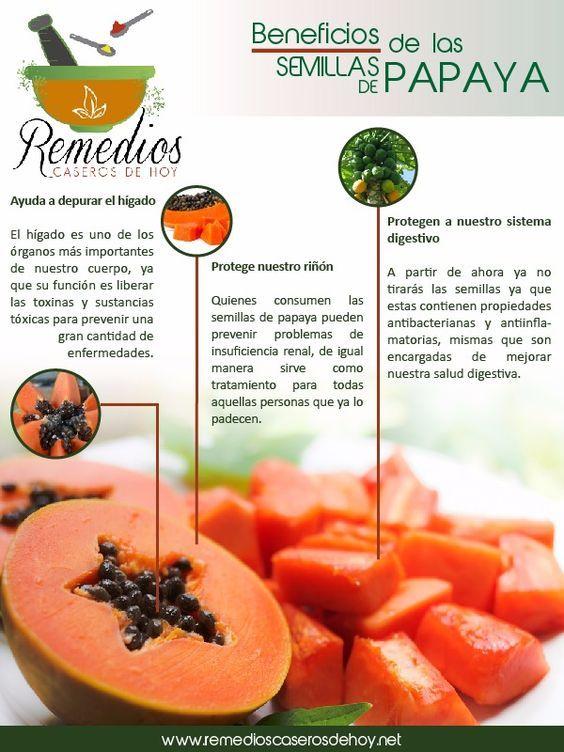 semilla de papaya propiedades curativas