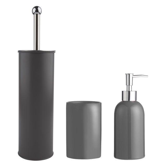 Grey Bathroom Accessory Set by Galzone #emporiumcookshop | Bath ...