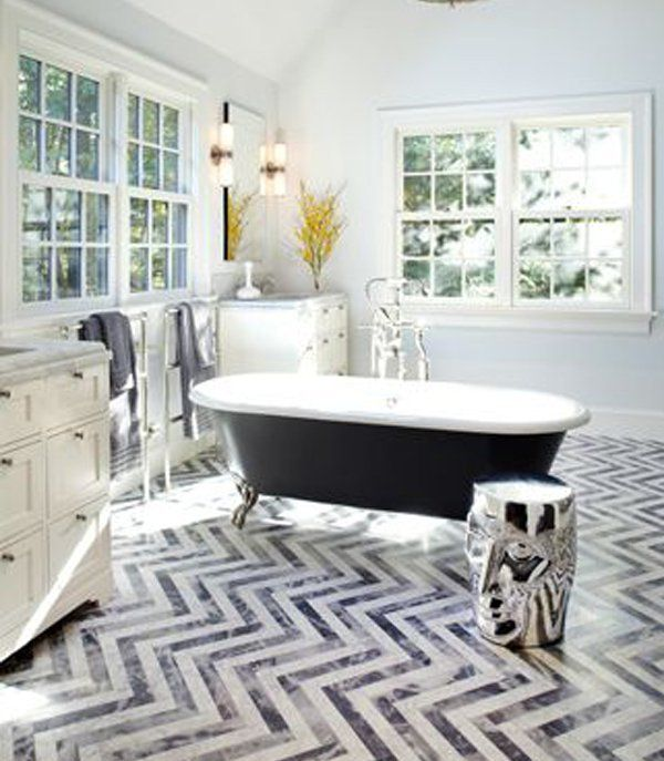 65+ Bathroom Tile Ideas. Chevron FloorChevron ...