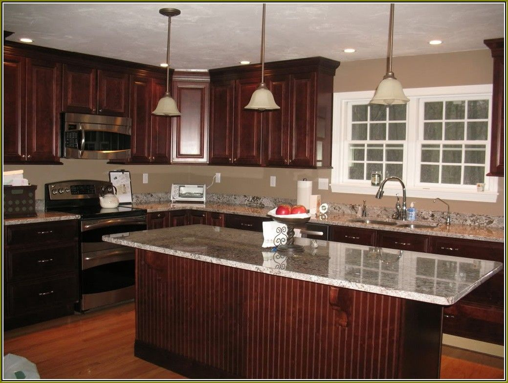 Pictures Kitchens Traditional Dark Wood Golden Brown From Red Gorgeous Cherrywood Kitchen Designs 2018