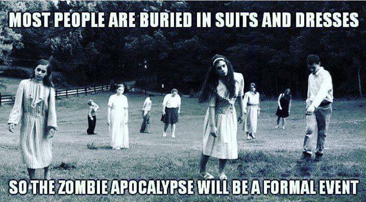 Stay classy. #pophorror #popunk #punk #goth #horror #zombie #monster #halloween #dead #classy #funeral #zombie #romero