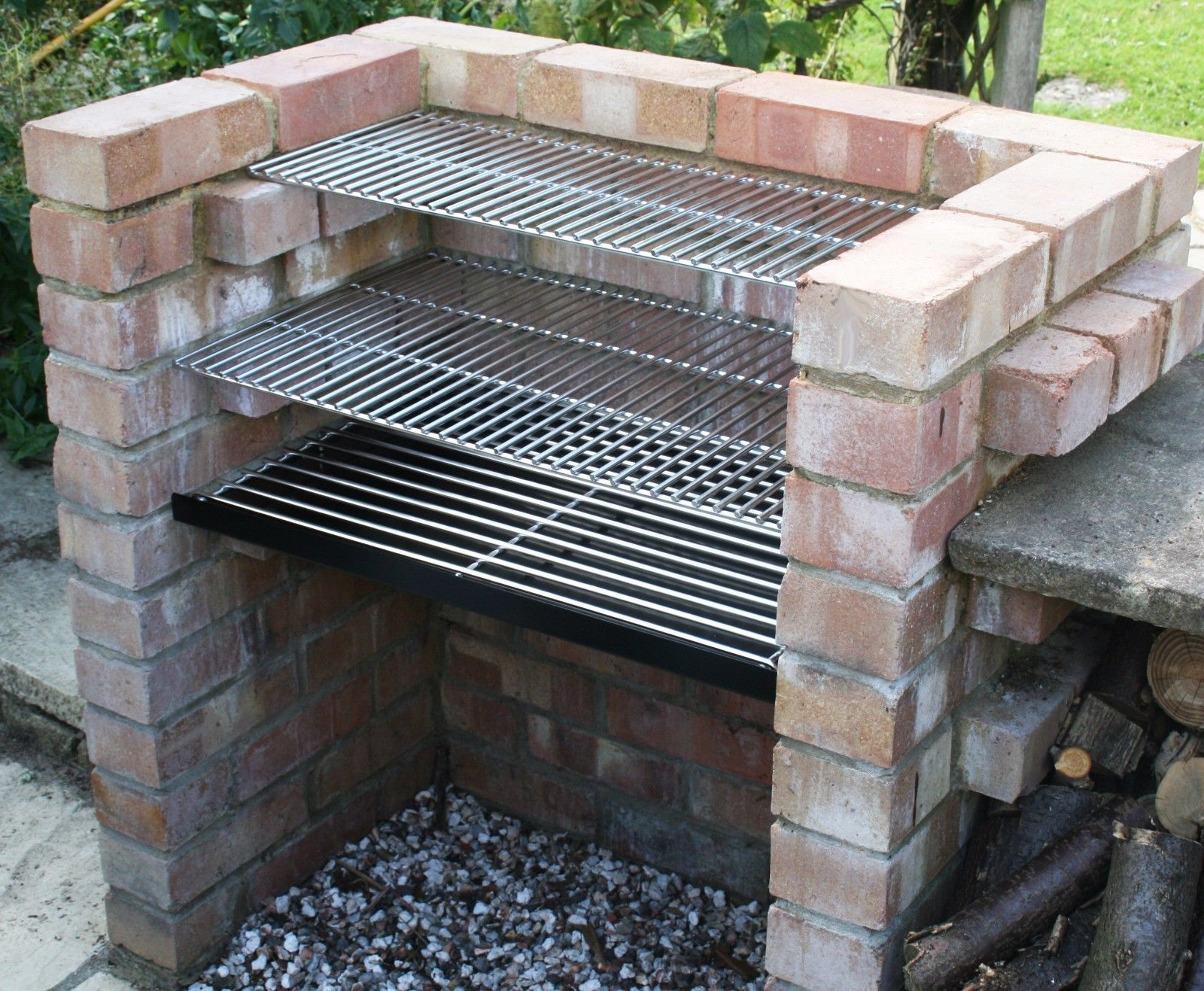 Charcoal Diy Brick Bbq Kit With 6Mm #stainless Grill & #warming Amusing Outdoor Kitchen Charcoal Grill Decorating Design