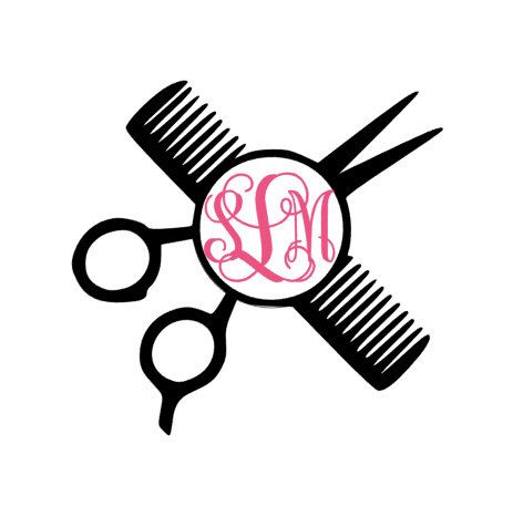 Hair Dresser Decal Hair Stylist Decal Monogrammed Hair Dresser - Hair stylist custom vinyl decals for car