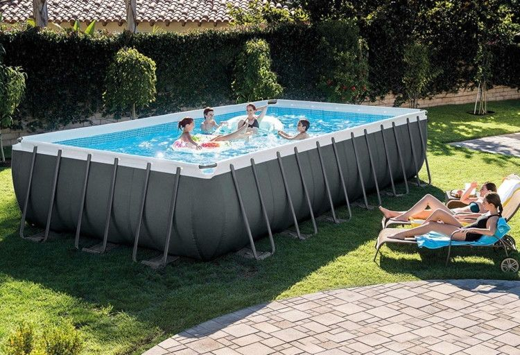 Intex Above Ground Pools As Low As 71 03 On Amazon Best Above Ground Pool Rectangular Pool Above Ground Pool