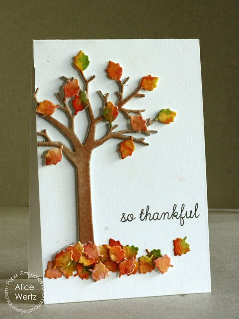 So Thankful card by Alice Wertz #PaperSmooches #handmadecards #thankful