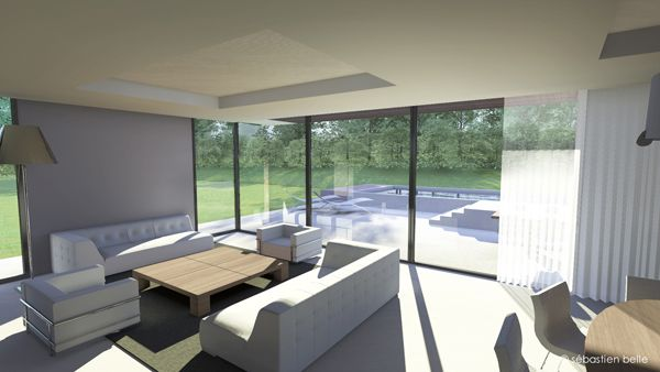 intérieur maison contemporaine Gex salon | DESIGN | Pinterest ...