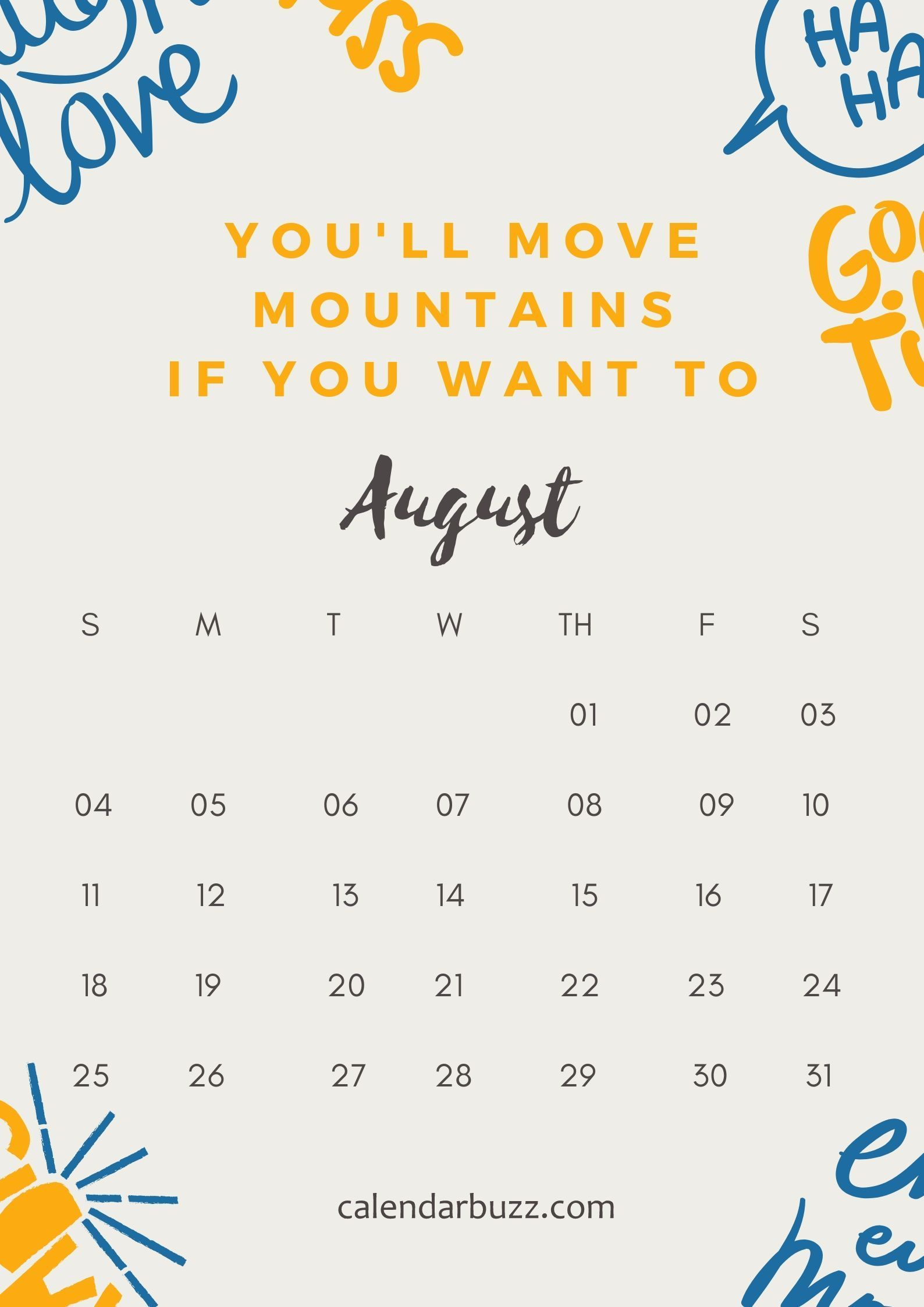 August 2019 best quote calendar inspirational quotes