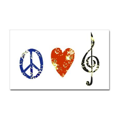 Peace, Luv, Music D Decal